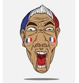 football fan from France vector image vector image