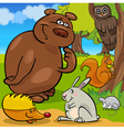 Forest wild animals cartoon group vector image