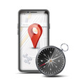 gps app concept mobile smart phone with vector image