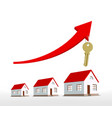 graph real estate growth with an arrow and vector image