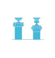 greek and roman architecture classic colomns vector image vector image