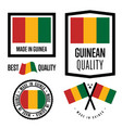 guinea quality label set for goods vector image vector image
