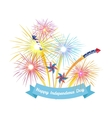 happy 4th july independence day design vector image