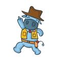 Happy cowboy cow cartoon vector image