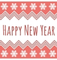 Happy New Year Christmas frame vector image vector image