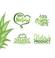 healthy symbol organic product eco logo vector image