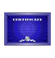 Horizontal silver certificate with a laurel wreath vector image vector image