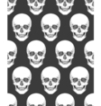 Human skull tribal style seamless pattern hand vector image vector image