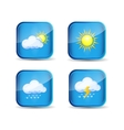 icon weather vector image vector image