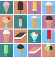Icons of ice cream in a flat style vector image vector image
