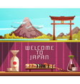 Japan Travel 2 Horizontal Retro Banners vector image vector image