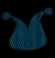 joker hat mosaic icon of halftone spheres vector image