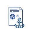 maritime law rgb color icon vector image