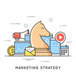 marketing strategy promotion campaign vector image vector image