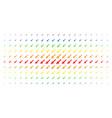missile launch spectrum halftone matrix vector image vector image