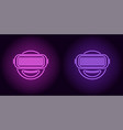 neon vr glasses in purple and violet color vector image vector image