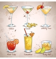 New Era Drinks Coctail Set vector image