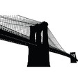 New York Brooklyn Bridge Black Silhouette vector image vector image