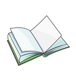 Open book on white background vector image vector image