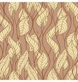 Pattern of autumn macro swirl leaves background vector image