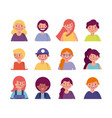 people woman man character vector image vector image