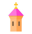 pink dome of church icon cartoon style vector image vector image