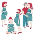 Pregnant set vector image