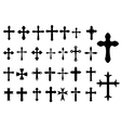 Religion Cross symbols set vector image vector image