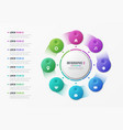 rotating circle chart template with 8 options vector image vector image