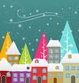 seasonal snowfall vector image vector image