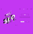 seo experts - line design style isometric web vector image