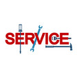 service sign with tool vector image vector image