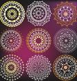 Set in a metallic color mandalas vector image vector image