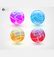 set of multicolored glass sphers vector image vector image