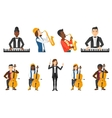 set of musicians people characters vector image vector image