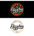 Set of pizzeria hand written lettering logo label vector image vector image