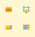 set of website icons flat style symbols with vector image vector image