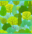 spring or summer seamless pattern with stylized vector image vector image