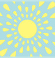 sun icon yellow rays of light cute cartoon vector image vector image