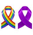 symbols of lgbt rainbow pride loop ribbon vector image vector image