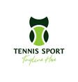 tennis sports inspiration logo design vector image vector image