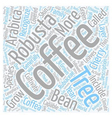 The Anatomy Of A Coffee Tree text background vector image vector image