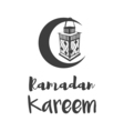 traditional lantern ramadan- ramadan kareem vector image