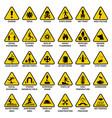 triangle warning sign danger symbols safety vector image vector image