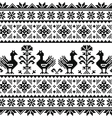Ukrainian or Belarusian Slavic folk art knitted vector image vector image