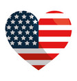united states heart design vector image