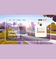 urban development website landing page template vector image vector image
