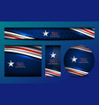 USA Color Banner Template vector image vector image