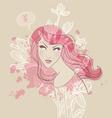 watercolor beauty vector image vector image