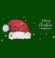 year santa claus hat banner card vector image